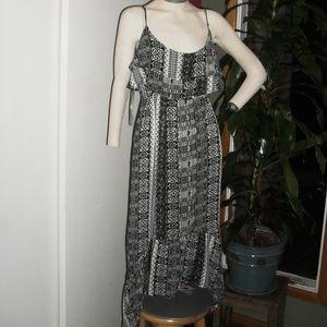 Woman's Mudd Black & Gray Spaghetti Maxi Dress  XL